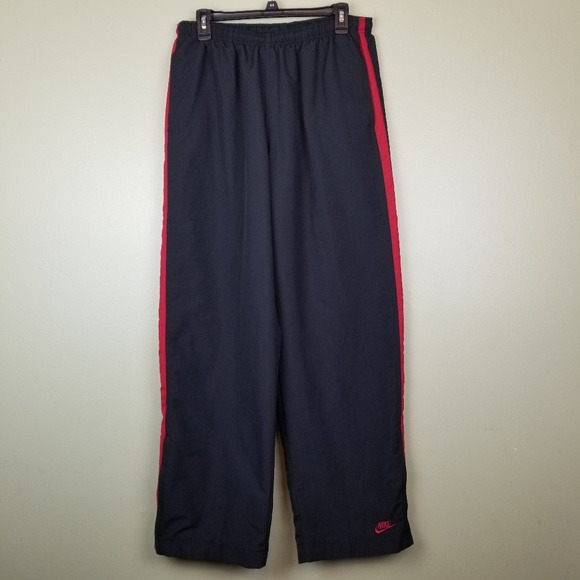 839f82e0e Nike Pants | Mens Track Black Red Size Large | Poshmark